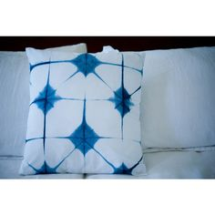 18X18 Blue Shibori Pillow Cover Insert Included ($40) ❤ liked on Polyvore featuring home, home decor, throw pillows, blue home decor, blue home accessories, blue throw pillows, blue toss pillows and blue accent pillows