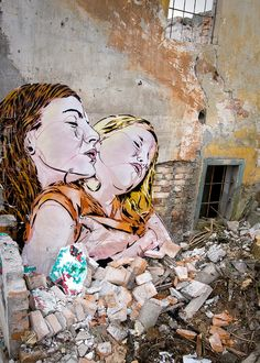 The street art of JANA & JS. View more of their work at Flickr. Photos © JANA & JS Link via Unurth