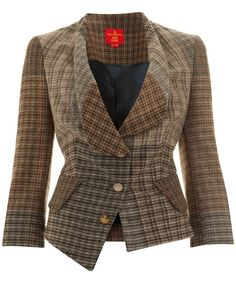 Cropped Tweed Jacket for autumn, by Vivienne Westwood at Liberty