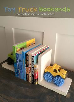 Toy Truck Bookends - The Contractor Chronicles