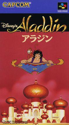 """26/11/1993. Shinji Mikami (Resident Evil) diseñó por encargo de Capcom, el Aladdin de Super Famicom / Super Nintendo para competir contra la versión homónima creada por Virgin para Sega Mega Drive /Genesis (en plena batalla de hits entre ambas compañias).  El Disney´s Aladdin de Nintendo es un título más """"plataformero"""" que su contrapartida, debido a ciertos elementos como la falta del sable de Aladino, por lo que aquí tendremos que saltar sobre los enemigos para ir avanzando por los niveles."""