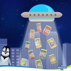 #Penguen'in dayanılmaz lezzetini duyan uzaylılar Dünya'yı bastı! :) #UzaylılaraTavsiyem #PenguenGida #ufoattackonturkey