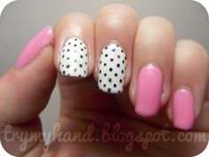 Black and white spots nail art