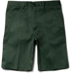 Acne Studios Adrian Slim-Fit Cotton-Blend Twill Shorts - Click link for product details :)