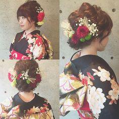 * * 成人式♡ * * #ヘアアレンジ #浜松市 #成人式 #マリhair Wedding Updo, Wedding Hairstyles, Flower Headdress, Japanese Wedding, Hair Arrange, Japanese Outfits, Japanese Kimono, Flower Crown, Bridal Hair