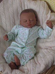 OPEN Mouth reborn baby girl Biracial AA by simplysweetbundles