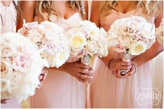 Blush colored bridal bouquets