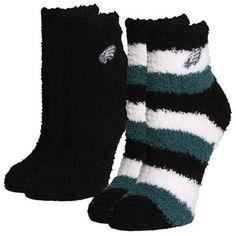 For Bare Feet Philadelphia Eagles Women's Slippers 2-Pack Socks