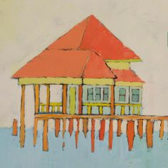 Painting of the Fairhope Pier by local artist and Fairhope Store owner Lisette Normann. #Fairhope #ThePier #Southerncharm