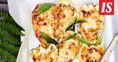 Anni Hautalan versio retrohenkisistä täytetyistä paprikoista kulkee nimellä Tulittavat paprikat. Cauliflower, Recipies, Anna, Pizza, Meat, Chicken, Vegetables, Cooking, Food