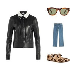 Mote for jenter på nett Boss, Leather Jacket, Polyvore, Jackets, Shopping, Fashion, Studded Leather Jacket, Down Jackets, Moda