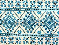 embroidered good by cross stitch pattern ukrainian ethnic ornament Stock Photo