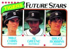 Mike Chris, Al Greene and Bruce Robbins Future Stars Card 1980 - Detroit Tigers  Card Number: 666
