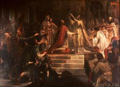 Frederich August Kaulbach - Charlemagne's coronation in 800