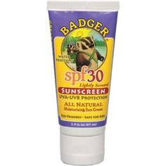 Amazon.com: Badger SPF 30 Sunscreen For Face & Body 2.9 oz (87 ml) (packaging may vary): Beauty $20