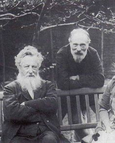 Edward Burne-Jones and William Morris. Both were original members of The Artists Rifles.