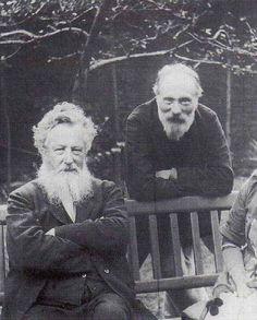 Edward Burne-Jones and William Morris. Both were original members of The Artists Rifles.