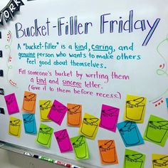 The bucket filler books are a kindness-spreading phenomenon. Try these fun free bucket filler activities to keep the kindness going in your classroom. Classroom Organization, Classroom Management, Classroom Ideas, Classroom Teacher, Teacher Binder, Behavior Management, Bulletin Board Ideas For Teachers, Year 2 Classroom, Ks1 Classroom