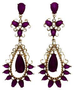 Gold Glass, Purple Glass, Purple Gold, Chandelier Earrings, Drop Earrings, Butter Shrimp, Garlic Butter, Luxury Fashion, Flat Rate