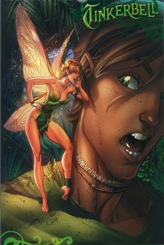 J. Scott Campbell - Fairy Tale Fantasies - Peter Pan and Tinkerbell