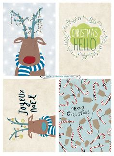 Printed beautifully by the brilliant people at moo.com, here are a few sets of christmas cards - 8 cards per pack, 2 of each design. (Blank for