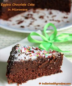 eggless chocolate cake in microwave | How to make eggless chocolate cake in microwave - Swasthi's Recipes