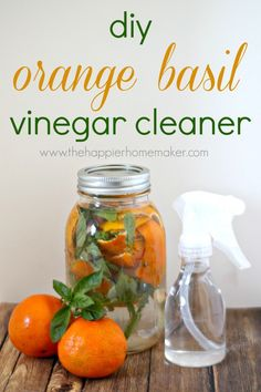 orange basil vinegar cleaner