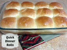 Quick Dinner Rolls - If you've never made rolls before or don't enjoy spending too much time in the kitchen this is the recipe for you!