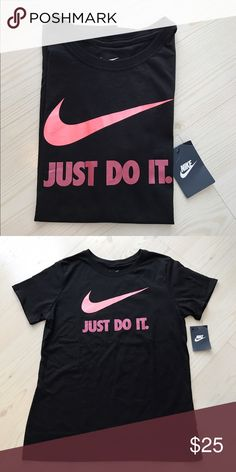 "New Nike Graphic T-Shirt Womens Black Crew Neck L Tag is marked ""as is,"" because this was an online only item that I purchased in store. There are no damages. New with tag, never worn or washed. Nike Tops Tees - Short Sleeve"