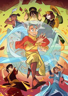 By ngoziu on Tumblr Avatar Aang, Avatar The Last Airbender, Cartoon Cookie, Team Avatar, Faith Over Fear, T Art, Legend Of Korra, A Comics, Comic Artist