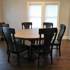 Rustic Elements Furniture custom builds round tables, available in your choice of wood, style, and distress. 60 Inch Round Table, Round Tables, Dining Tables, Custom Furniture, Home Kitchens, Rustic, Wood, House, Collection