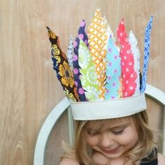 Make a feather headdress out of fabric scraps!