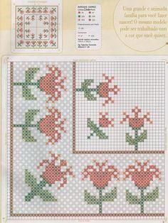 Gráficos para bordar em tecido xadrez