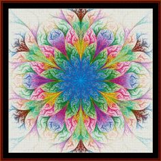 Fractal cross stitch (pattern by Cross Stitch Collectibles)
