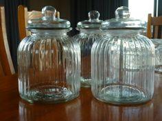 Glass jars for storage