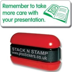 Remember To Take More Care With Your Presentation Green School Marking Stamper - Primary Teaching Services Green School, Primary Teaching, Teacher Resources, Presentation, Stamp, Ink, Amazon, Free, Products