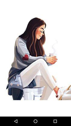 cartoon art Saturday cozy-lazy-coffee doodle:) on Behance Cartoon Girl Images, Cute Cartoon Girl, Cartoon Art Styles, Cute Girl Drawing, Cartoon Girl Drawing, Cartoon Drawings, Coffee Doodle, Cute Girl Wallpaper, Girly Drawings