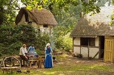 Little Woodham Living History Village — 17th-century England   Also known as the Seventeenth Century Village, Little Woodham is a living museum that recreates rural English life in the mid-17th century. Found in an ancient wood of Hampshire, the village volunteers act as if it's the summer of 1642, and talk about Charles I and the impending war between the King and Parliament.
