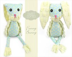 Sweet Softie Bunny Tutorial - Easter Roundup - 10 Easter Crafts - By Stella Crafts #Easter #Spring #Crafts #DIY #Tutorial #Bunny #Softie #Plush #Sewing