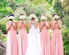 Buy Now TDY Blush Maxi Bridesmaid Convertible Dress Infinity Dress Multiway Dress Wrap Dress Long Ball Gown Floor Length Dress (Regular & Plus Size) by thedaintyard. Infinity Wrap Dresses, Infinity Dress Bridesmaid, Blush Bridesmaid Dresses, Wedding Dresses, Bridesmaids, Prom Dresses, Gold Sequin Dress, Lace Dress, Nude Skirt