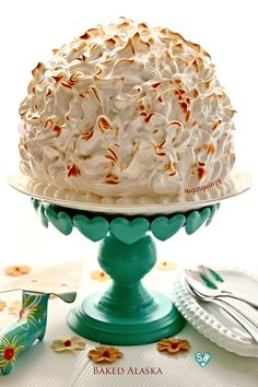 SugaryWinzy Baked Alaska Strawberry Ice Cream Chocolate Cake