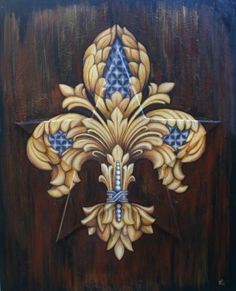 Jenny Abshier Boarders, French Decor, Irises, Coat Of Arms, Background Images, Skin Art, Alchemy, Mardi Gras, Crowns