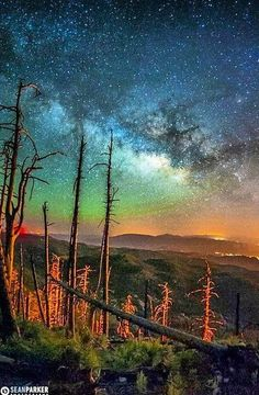 Airglow over Tucson Arizona. Taken from Mt. Lemmon
