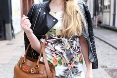 krist.in sheinside dress leather jacket outfit stavanger streetstyle