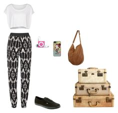 """Untitled #57"" by rosewaltman ❤ liked on Polyvore featuring moda, American Apparel, Vans ve Kivari"