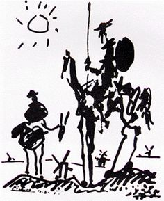 Picasso Don Quixote (aka Man on a horse). We had a reproduction of this in the house growing up too. What can I say? I grew up around art!