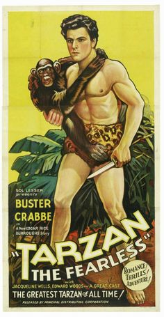 """poster for """"Tarzan the Fearless"""", starring Buster Crabbe, 1933."""