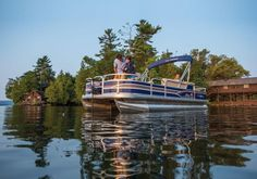SUN TRACKER Boats : Fishing Pontoons : 2015 FISHIN BARGE 22 DLX Description