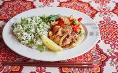 豚肉のショウガ焼き 香菜ご飯添えのレシピ・作り方   暮らし上手