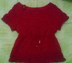 Bata em Crochê com cinto Crochet Top, Turtle Neck, Sweaters, Tops, Women, Fashion, Lab Coats, Crochet Batwing Tops, Moda